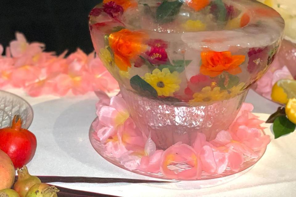 Floral Ice Bowl.