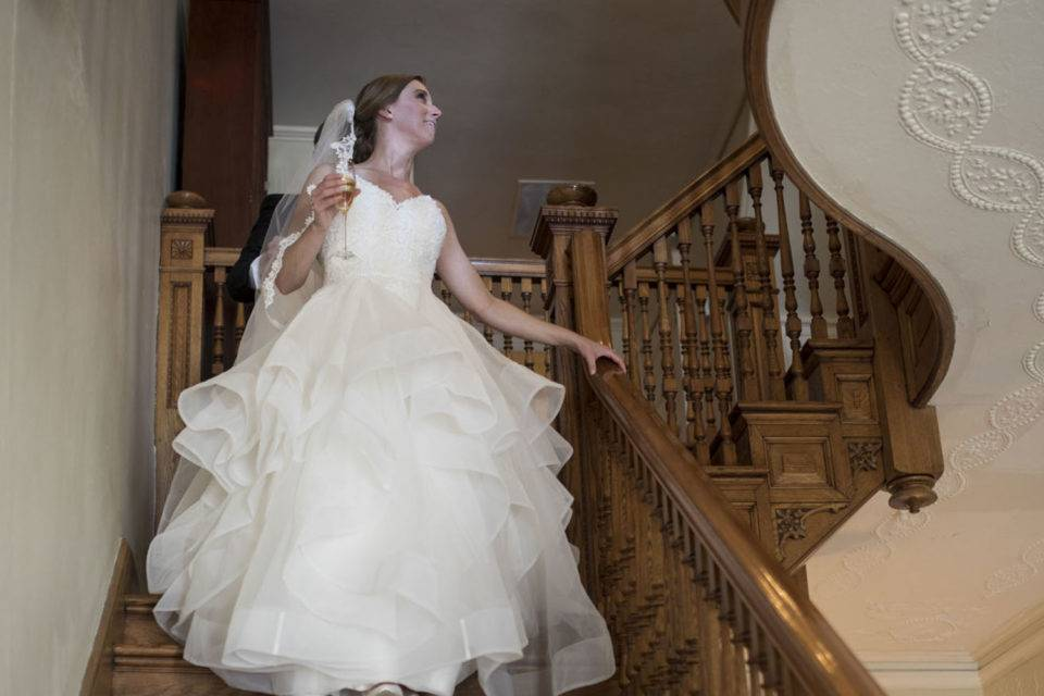 Descending the staircase