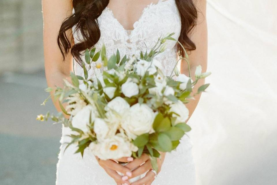 Bride and blooms