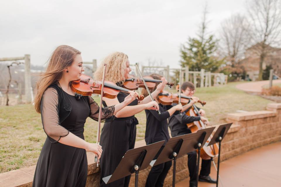 String quartet prelude music