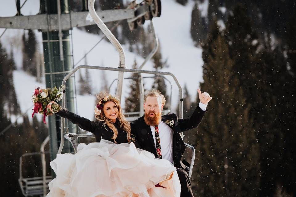 Snowbird wedding