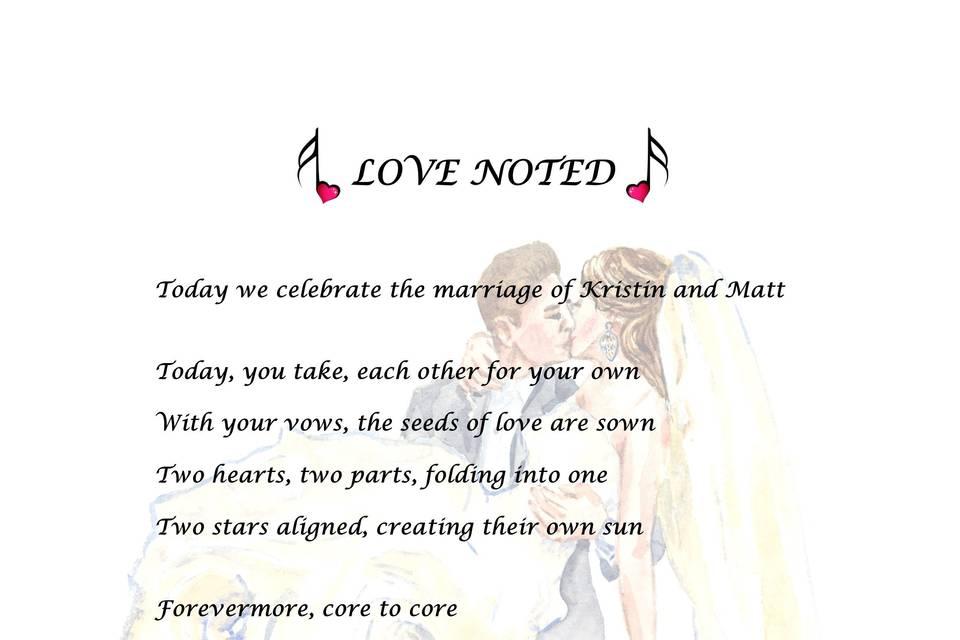 Love Noted Lyric
