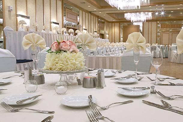 Elegant table set up at the ballroom area