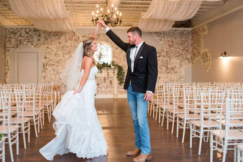 Twirling the bride