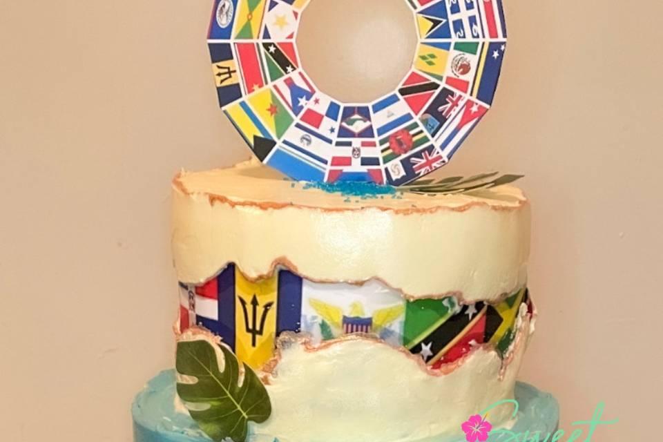 Island Themed Cake