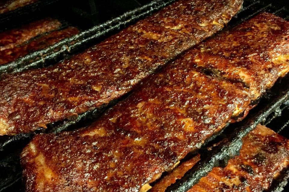 Signature smoked ribs