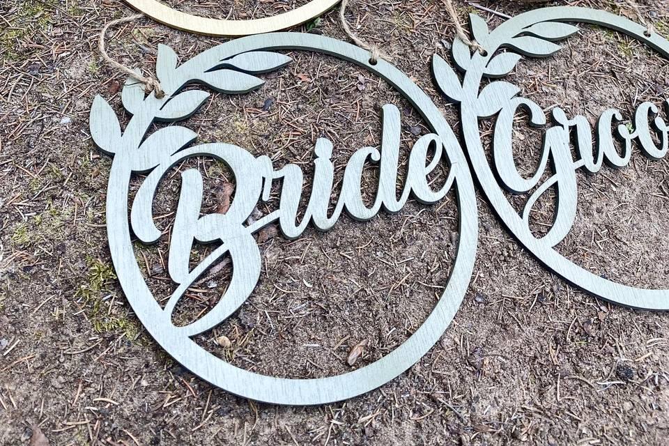 Bridal chair signs