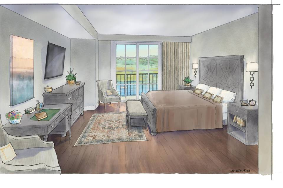 King Studio Riverfront room