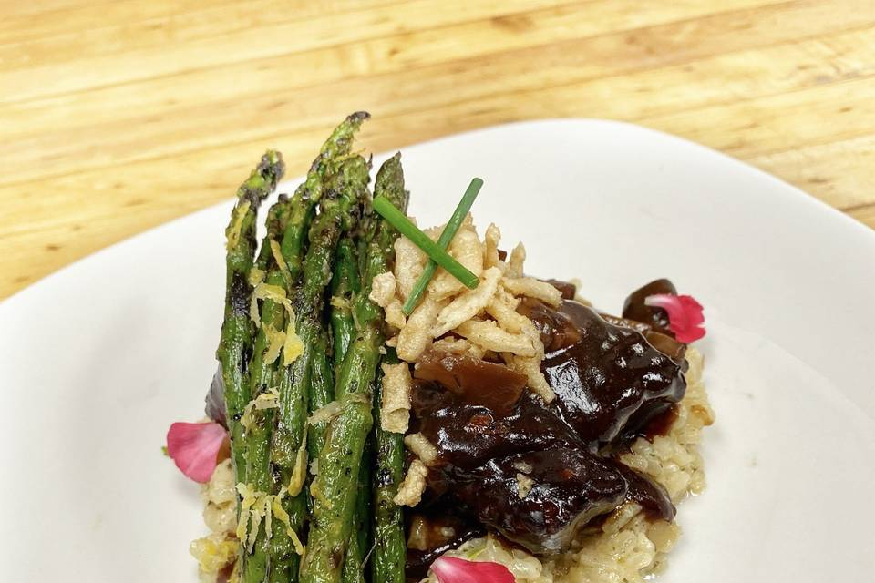 Short ribs with risotto