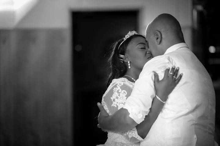 Sharing an intimate first dance