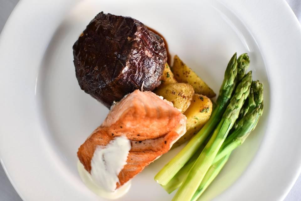 Filet & Salmon Duet