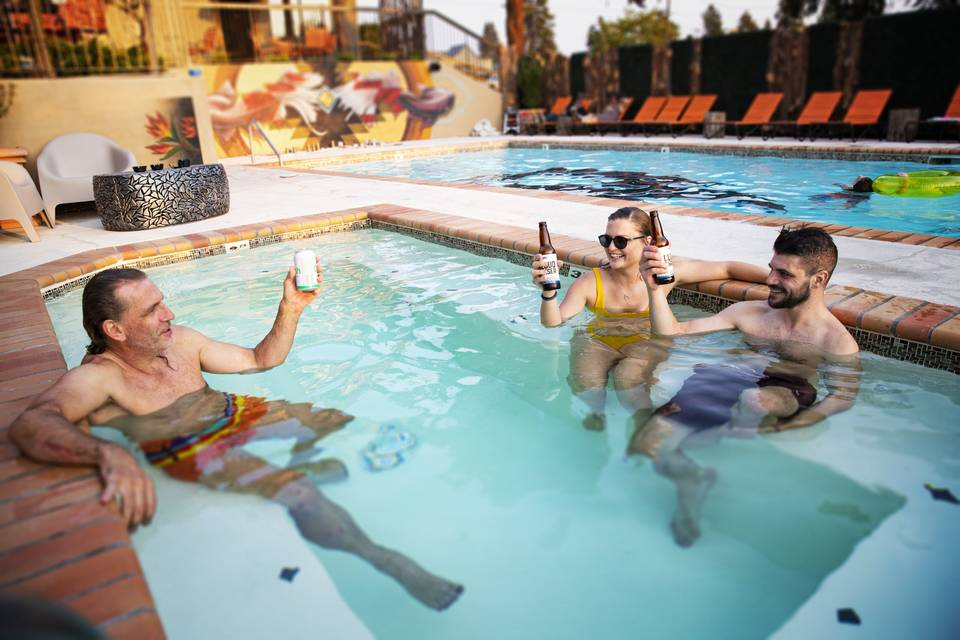 Year round pool party
