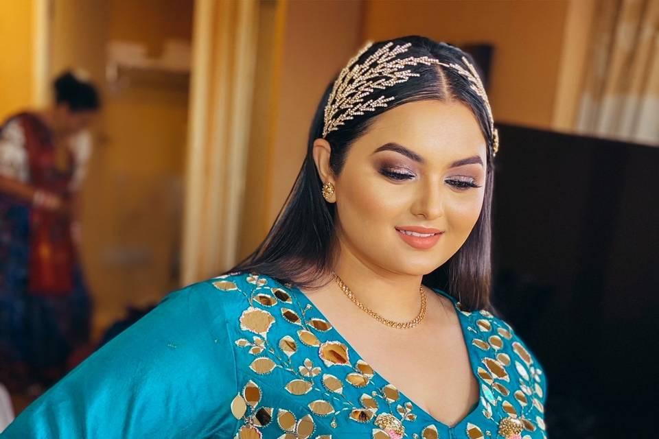Indian Wedding sleek straight