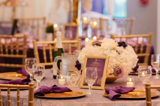 Lavender Guest Tables