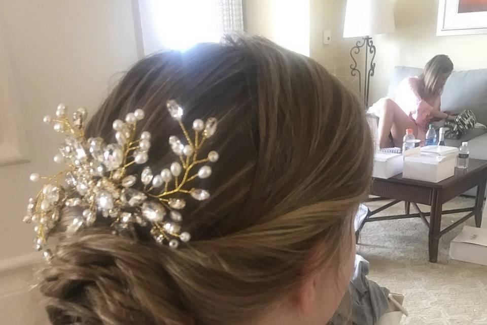 Wedding updo, Ritz Carlton