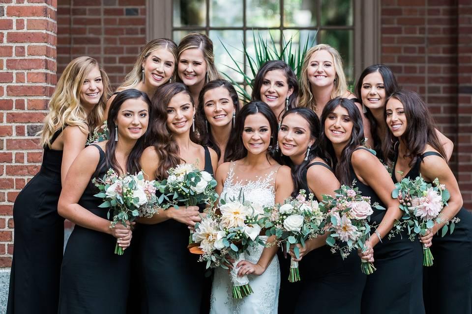 Bride and bridesmaids | Johnson Photo