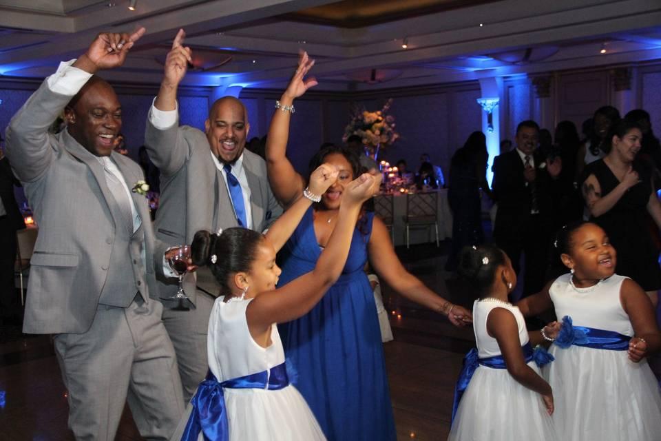 Dancing family
