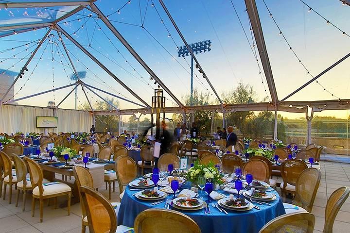 Magnificent tent reception