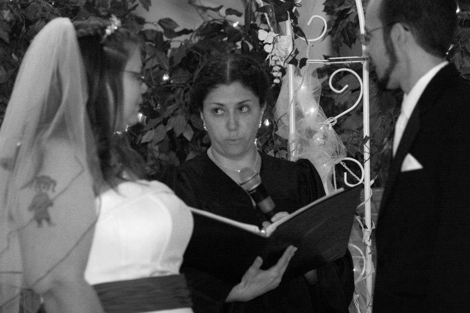 Officiant at work