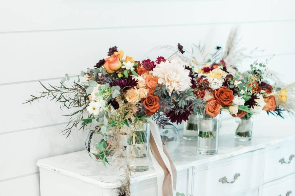 Bridal suite set up