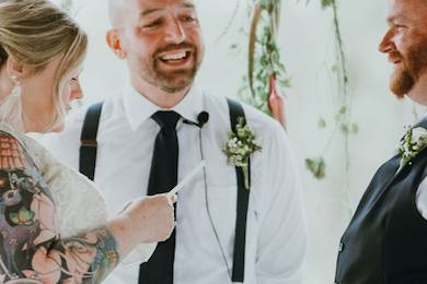 Brian Beck, officiant