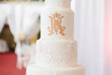 Wedding cake with detailing