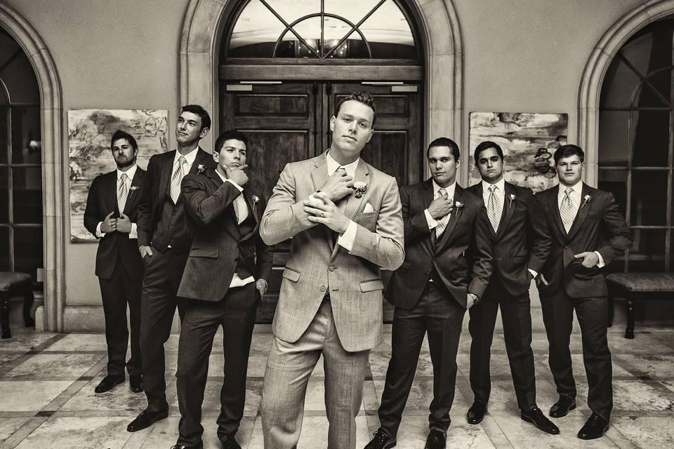 Light & Co groom and groomsmen