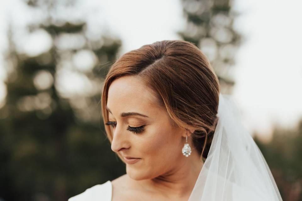 Beautiful newlywed