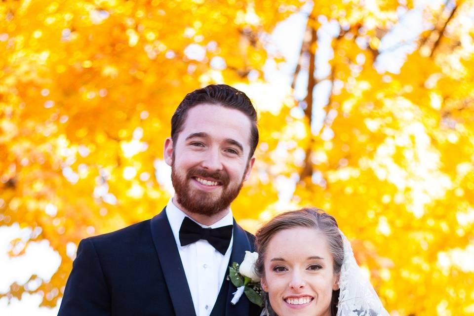 A beautiful fall wedding