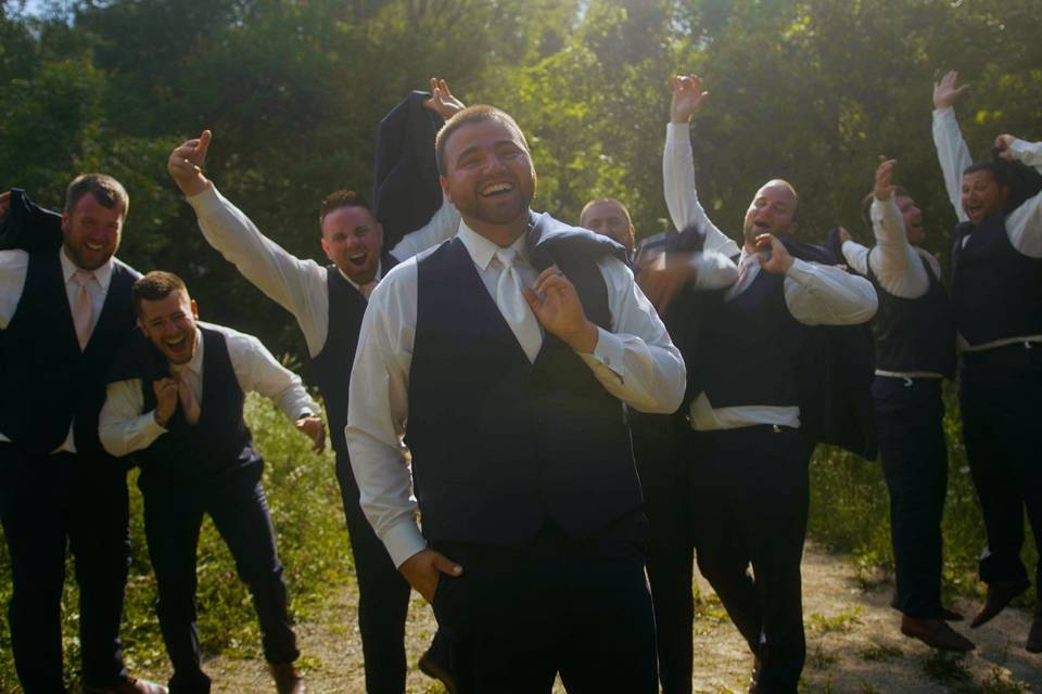 The groom and his party