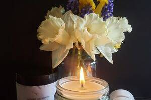 Candles and whipped body cream