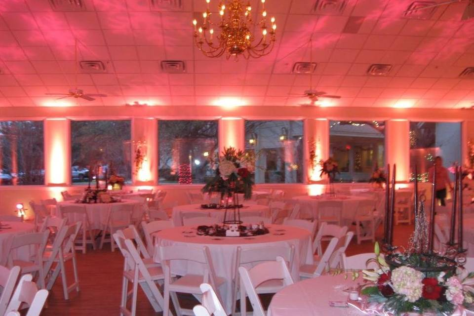 Reception uplighting