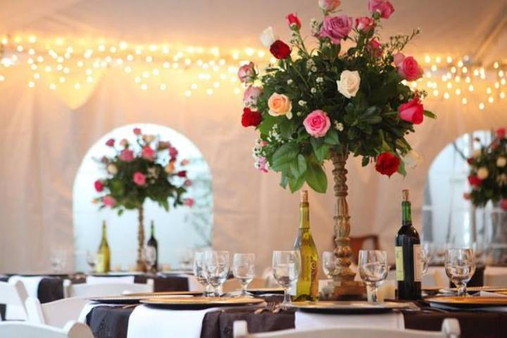 Roses and tables
