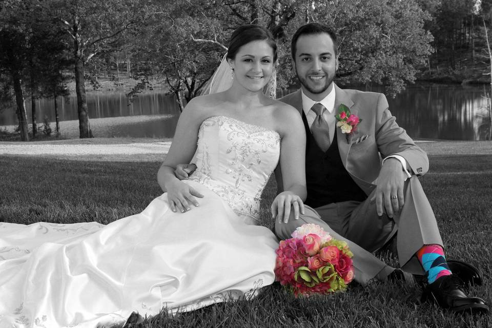 Happy couple seated - Say Cheese Photography