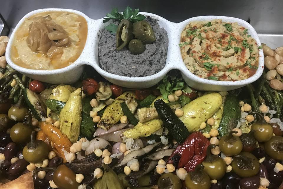 Mediterranean Hummus Display