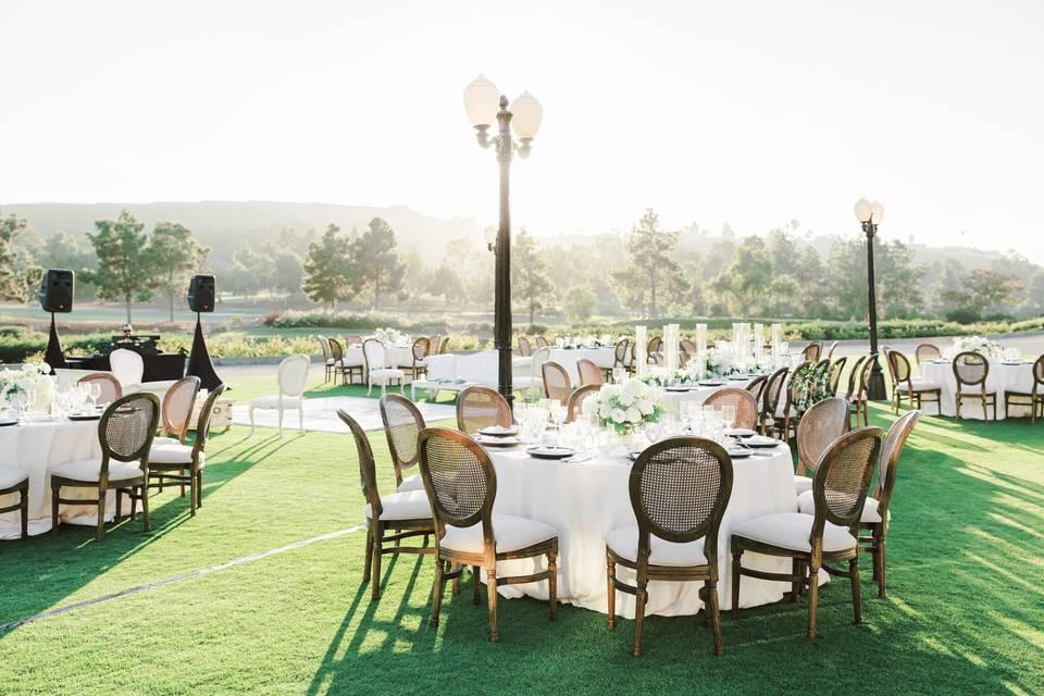 A reception on the Wedding Lawn
