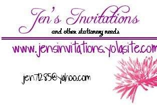 Jen's Invitations and other Stationery Needs
