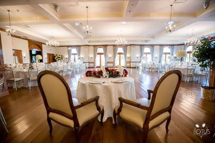 Head table and chairs