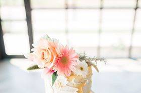 Vibrant floral cake decor