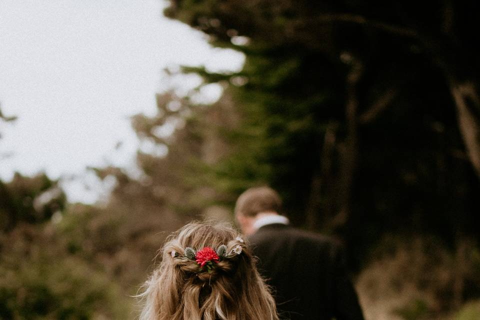Boho style for this bride