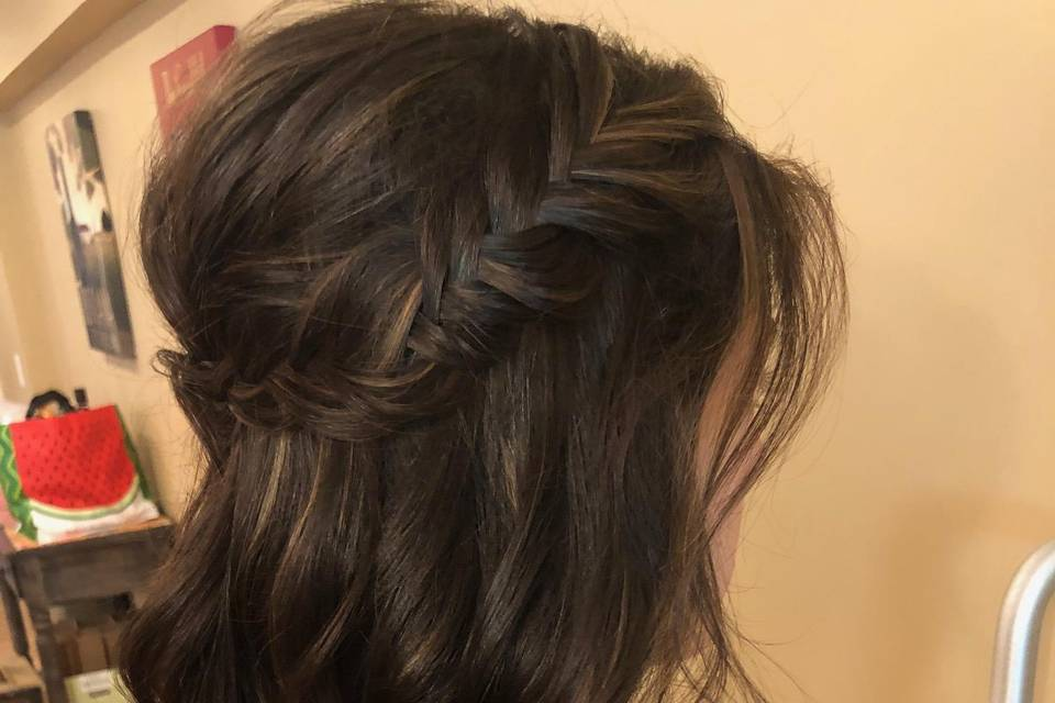 Bridesmaid fishtail