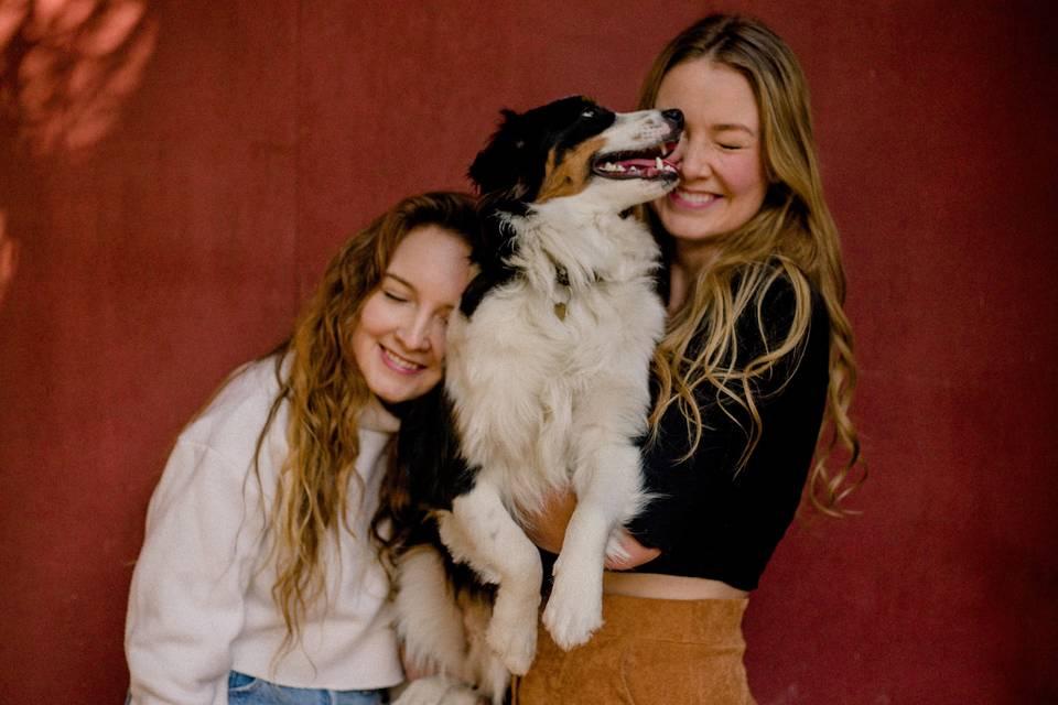 Hope, Oatmeal, and Zoe.