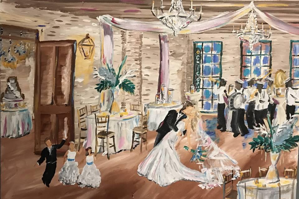 Nola Live Painting by Kristen Schenck