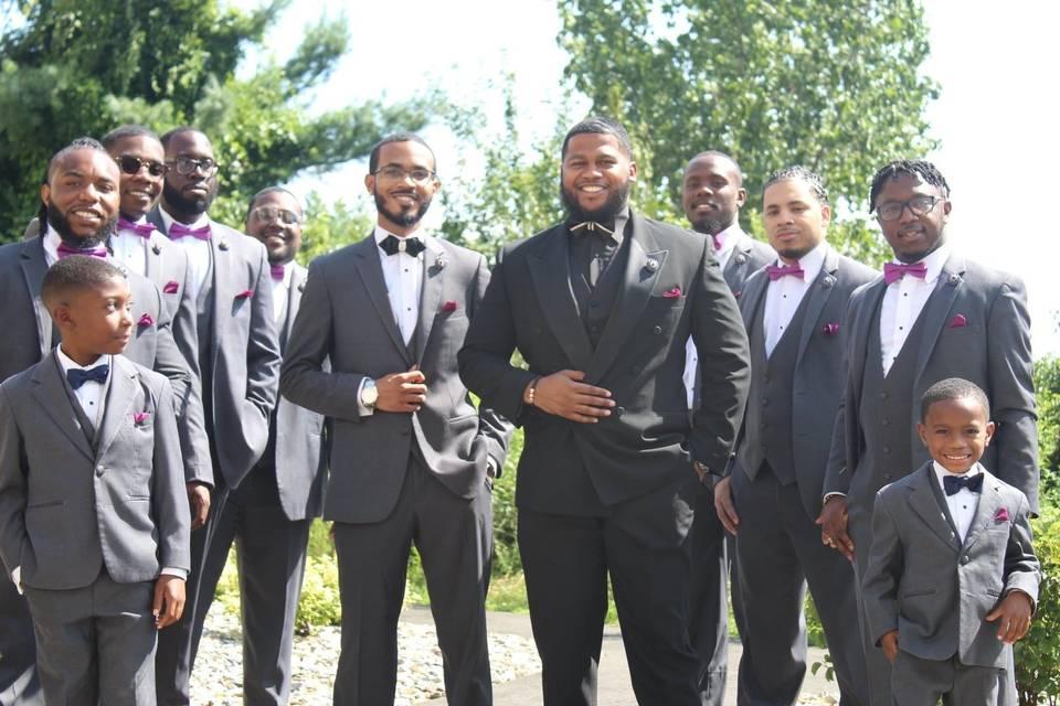 Marcus & his groomsmen