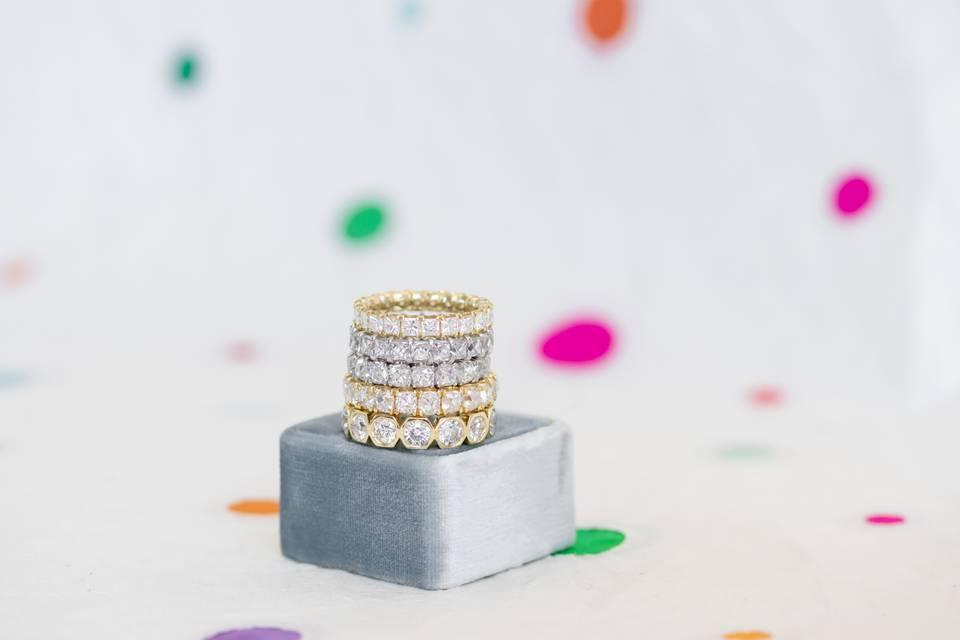 Diamond Engagement Bands