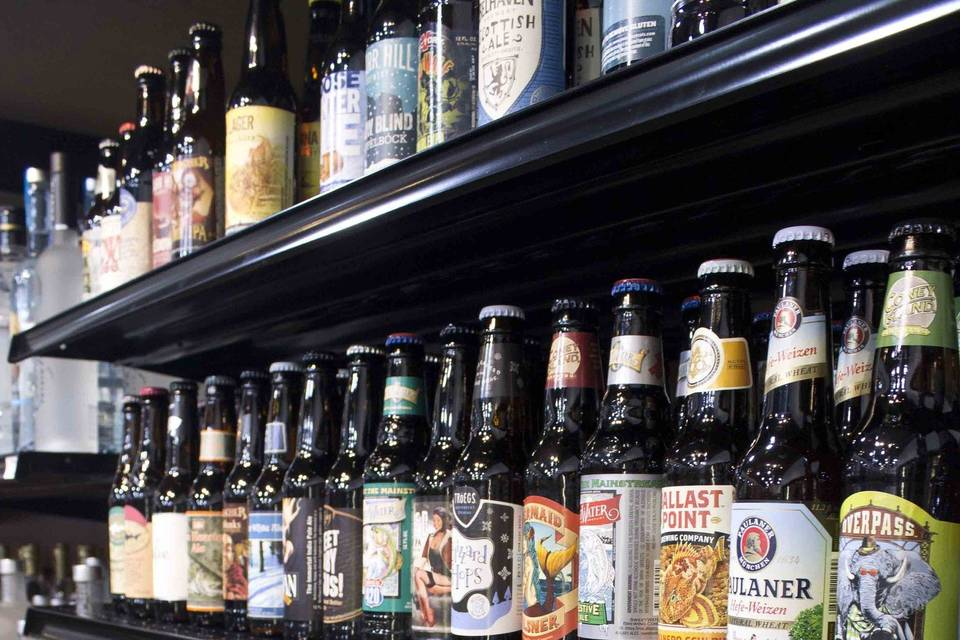 A wide selection of beers