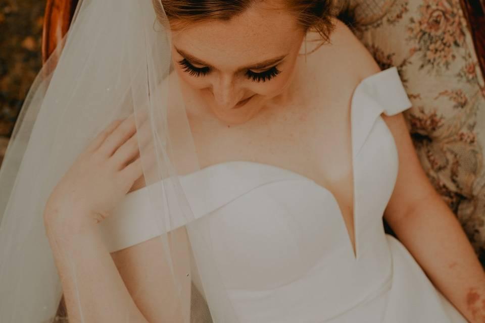 Stunning bridal session