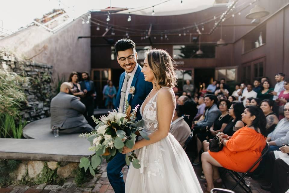 Ceremony on the Patio