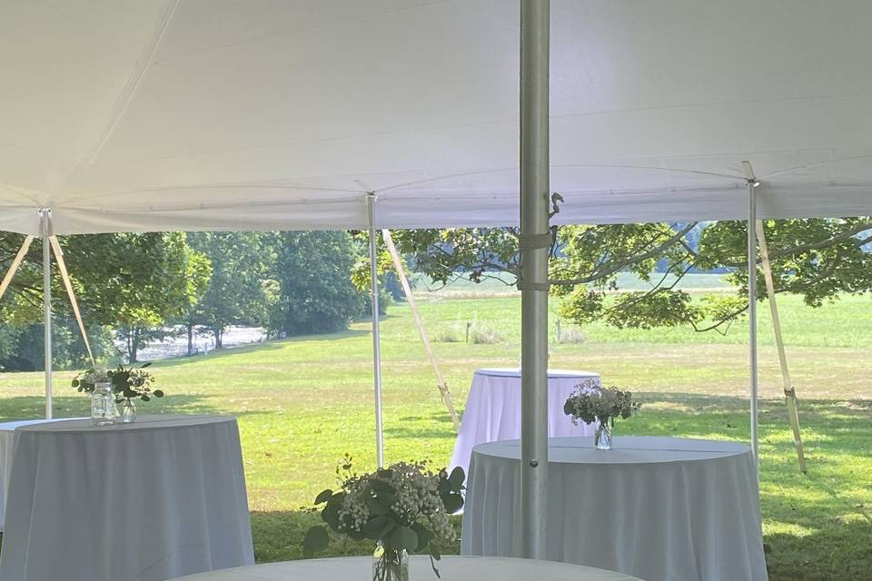 Tent with view of pond
