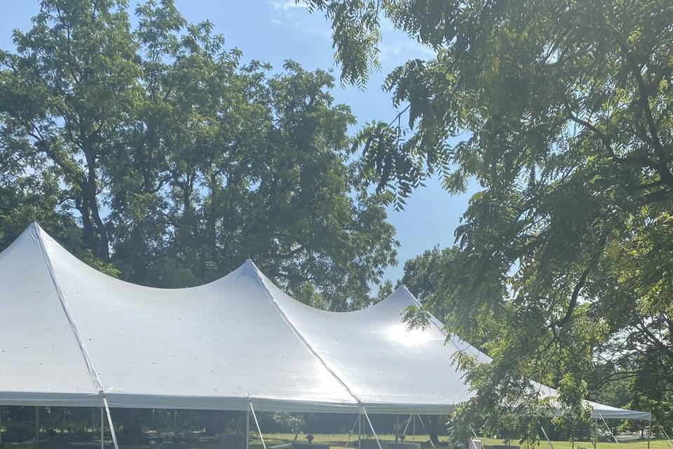 Tent with tables
